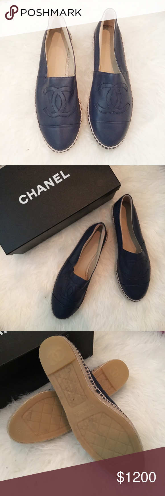 Chanel Lambskin Espadrilles Authentic. Brand new. Final sale. Pls ask questions before purchasing. CHANEL Shoes