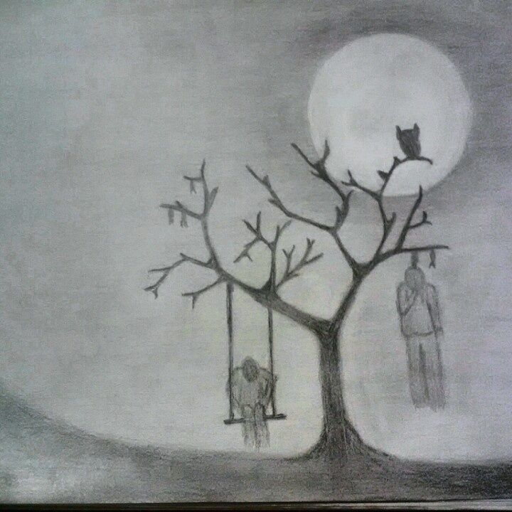 my halloween drawing - Drawings Of Halloween Pictures