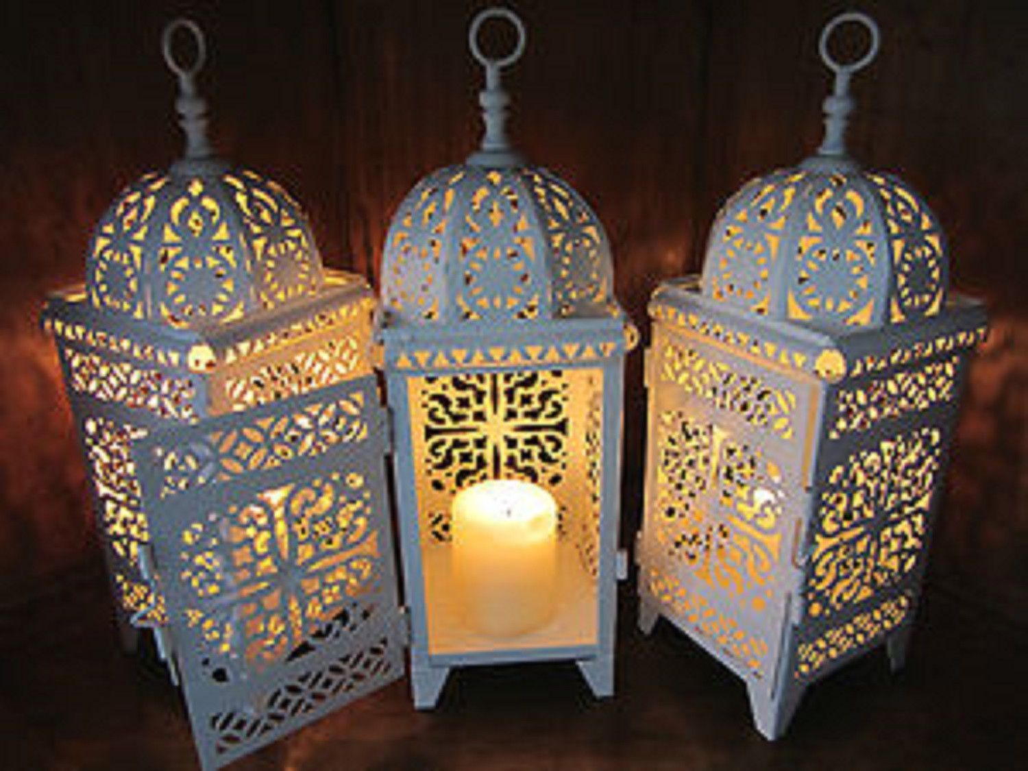 5 Bulk Lot White Moroccan Marrakech Lanterns Candle Holder Lamp Wedding Centerpieces From Gifte