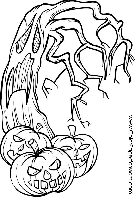 Coloring Pages For Adults Halloween Jack O Lanterns Coloring