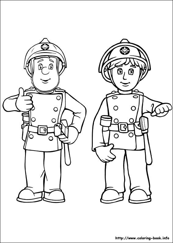 fireman sam coloring pages 5