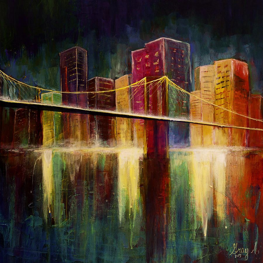 Abstract City Scape Paintings For Sale City Scape Painting Cityscape Painting Abstract City