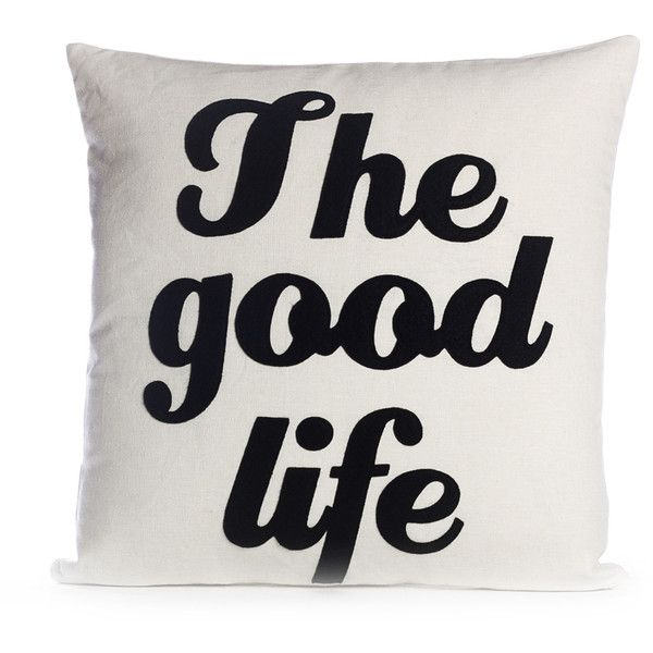 The Good Life Pillow ($97) ❤ liked on Polyvore featuring home, home decor, throw pillows and handmade home decor