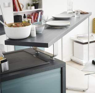 Mobilier modulable et accessoires pratiques meuble mobilier en 2019 pinterest - Petit plan de travail cuisine ...
