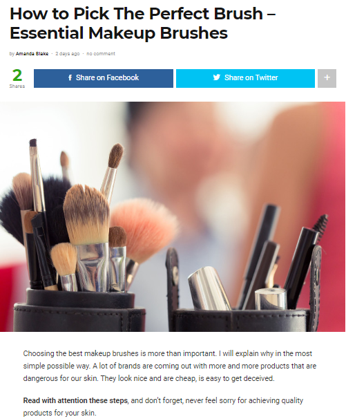 Choosing the best makeup brushes is more than important. I