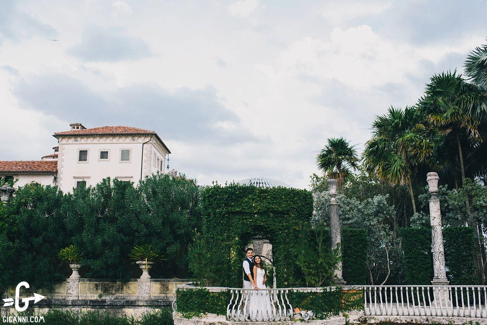 Vizcaya Museum & Gardens Engagement Thy + Jose Vizcaya