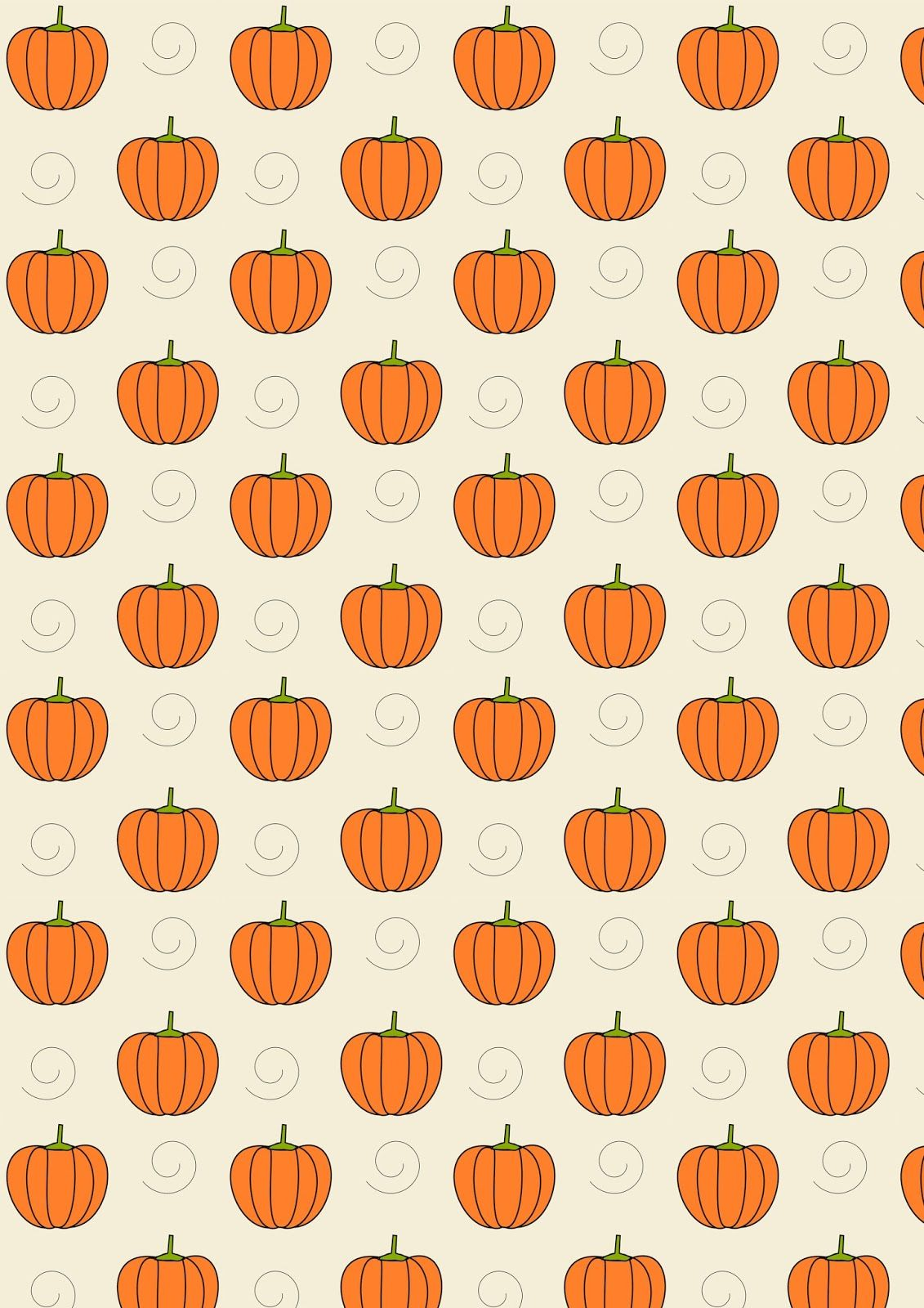 Free Digital Pumpkin Scrapbooking Paper Ausdruckbares Geschenkpapier Freebie Pumpkin Wallpaper Cute Fall Wallpaper Halloween Wallpaper Iphone