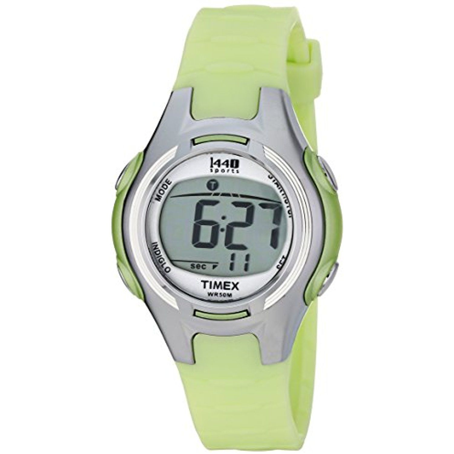 668b9635a Women's T5K081 1440 Digital Watch with Light-Green Resin Strap * More info  could be found at the image url. (This is an affiliate link and I receive a  ...