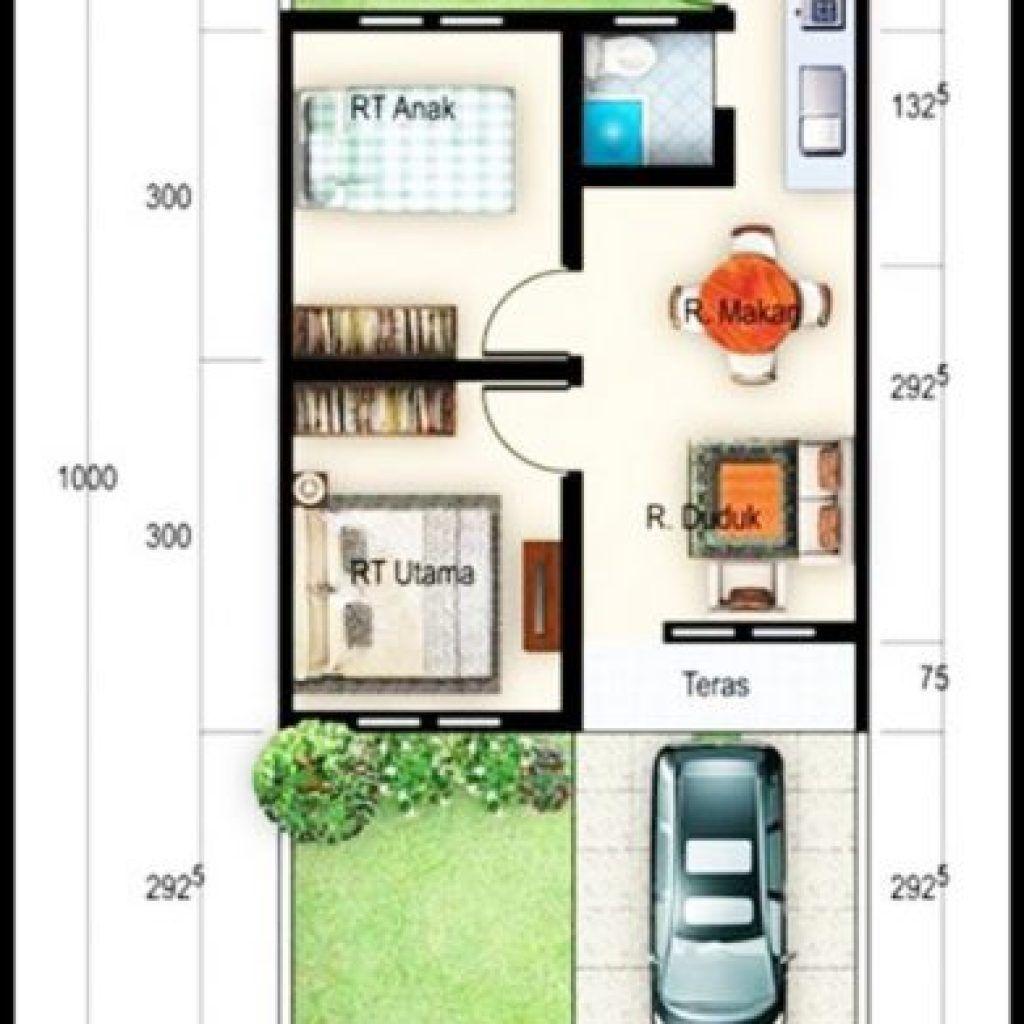 Gambar Denah Rumah Minimalis Ukuran 6x10 Terbaru Denah Rumah Rumah Minimalis Rumah