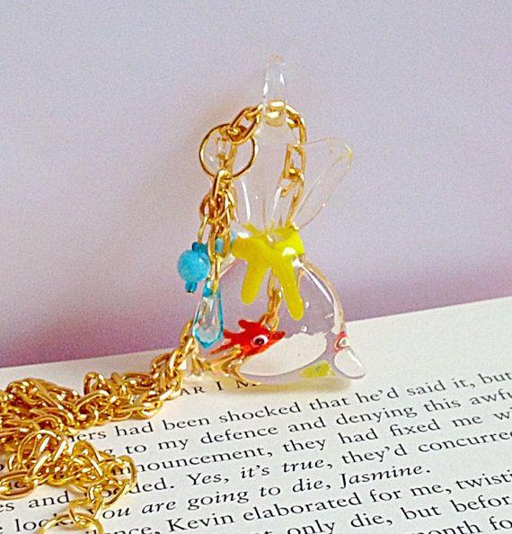 Goldfish In A Bag Necklace Fairground Funfair By Xkawaiicutiex