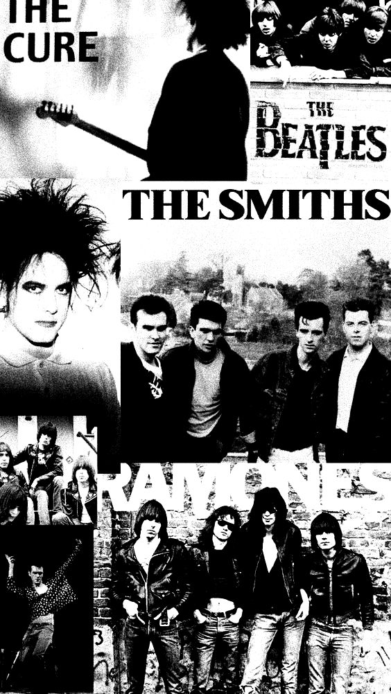Ramones The Smiths The Cure The Beatles Wallpaper 60s 70s 80s 90s In 2020 Beatles Wallpaper The Cure Will Smith