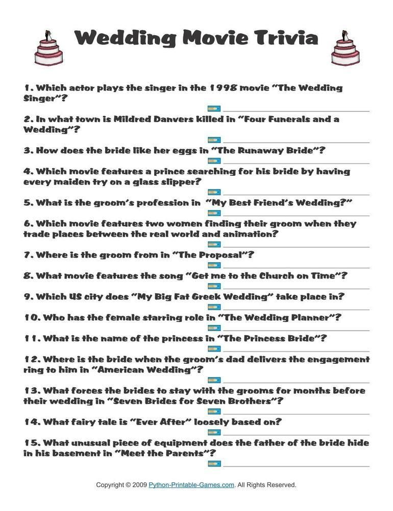 Wedding Movie Trivia 1 95