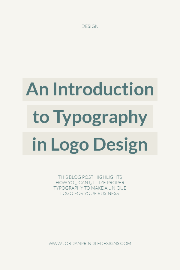 An Introduction to Typography in Logo Design