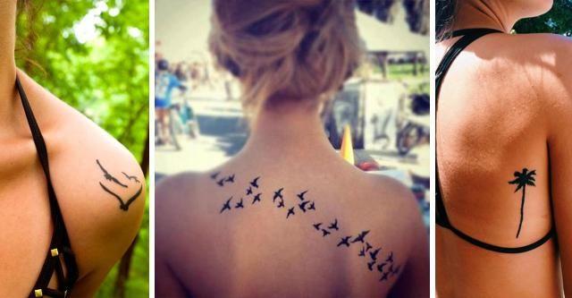 12 Genialnych Pomysłów Na Tatuaż Na łopatkach Przegląd
