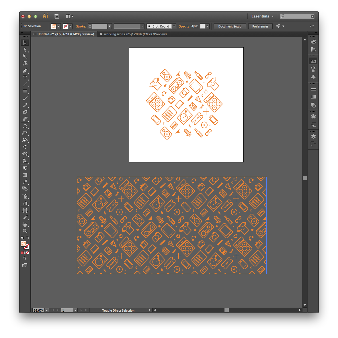 How To Make A Repeatable Pattern In Illustrator Patterns Symbols