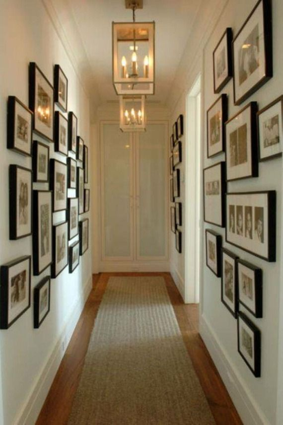 Déco couloir : aménagement en 30 photos | Wall ideas, Gallery wall ...