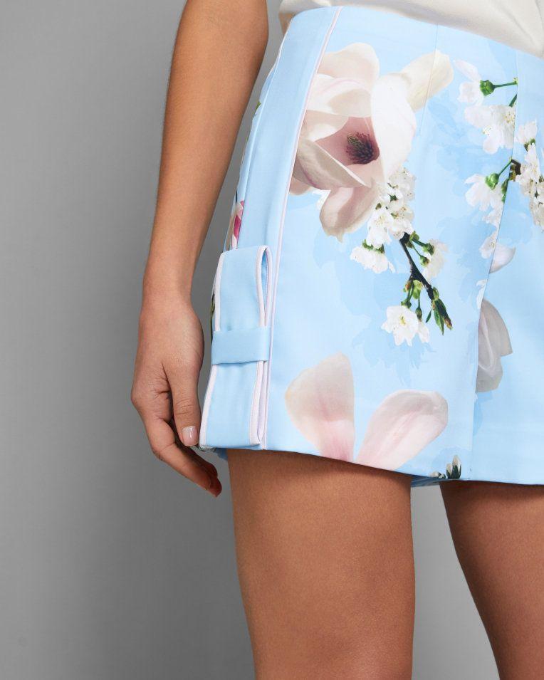 d843d4e2d Harmony bow detail shorts - Pale Blue