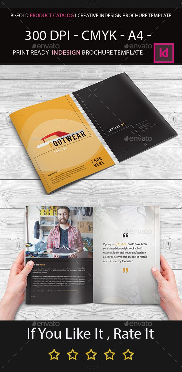 BiFold Product Catalog I Creative Indesign Brochure Template - Bi fold brochure template indesign