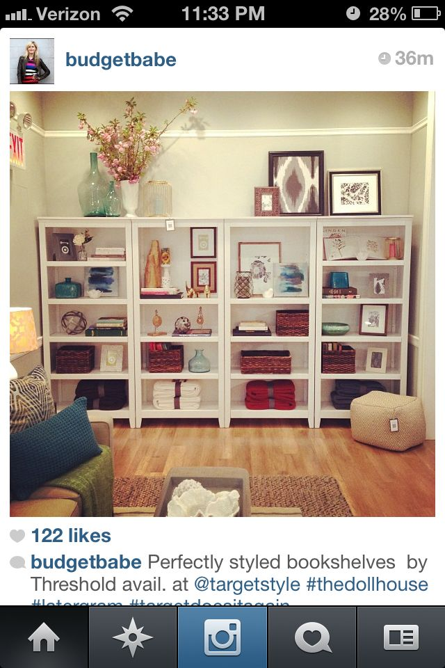 Target Threshold Bookshelf Styling Good For A Big Wall And Lots Of Space To Fill