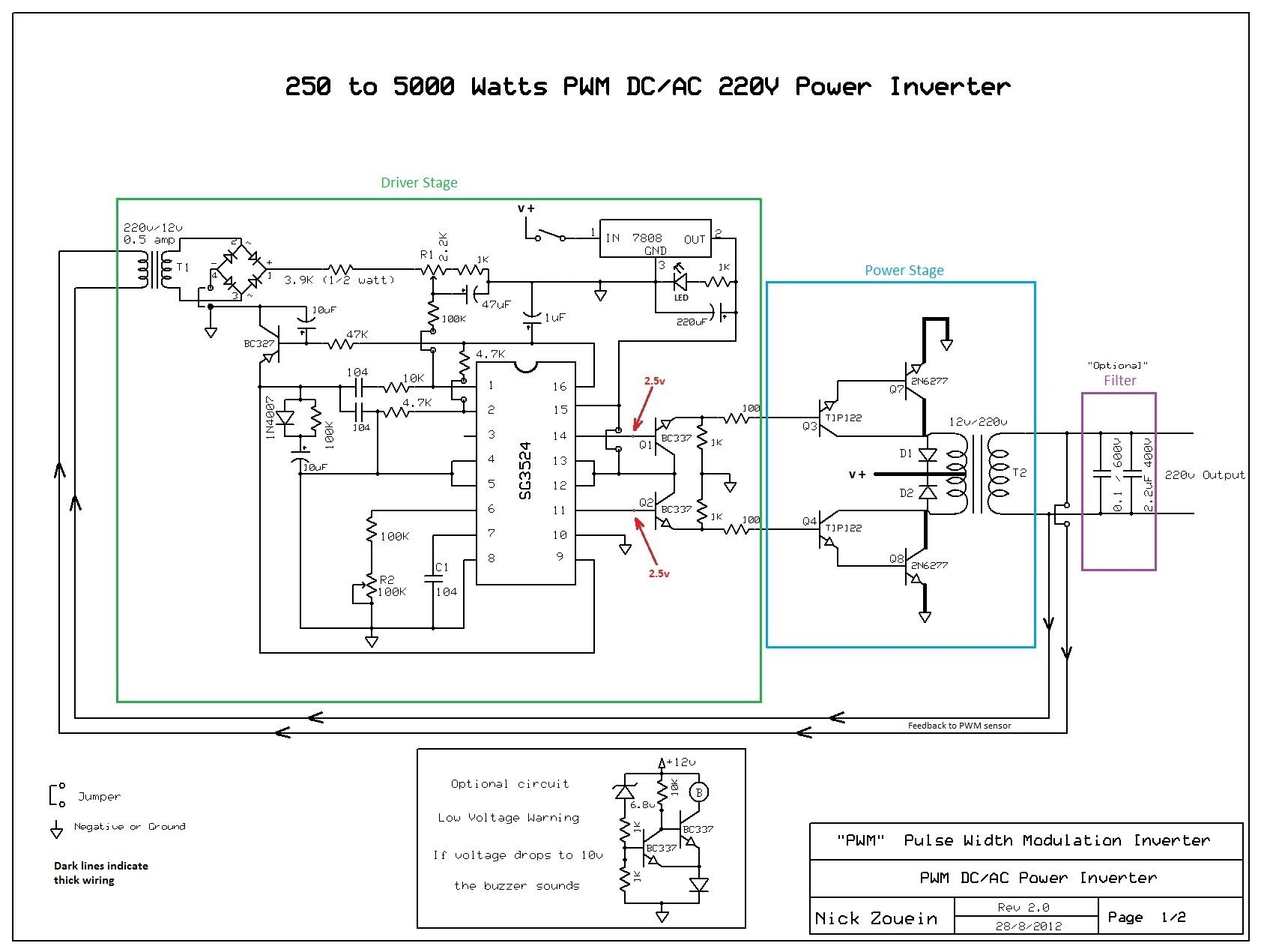 Inverter 12v To 220v Schematics Free Electronic Circuits Diagram New Fet Audio Amp Circuit Bundadaffacom Transforming A 250w 5000w Electronics Pinterest Rh Com