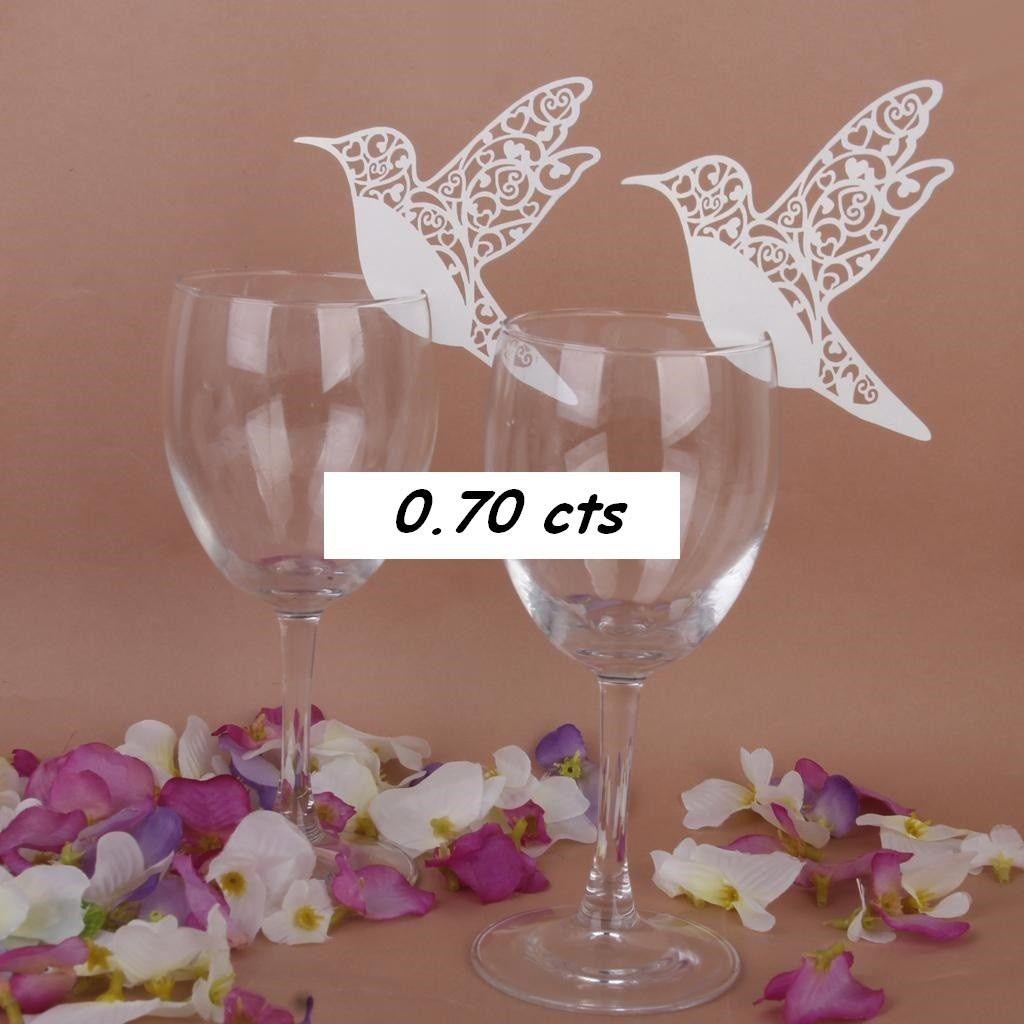 mariage marque place oiseau decoration table mariage. Black Bedroom Furniture Sets. Home Design Ideas
