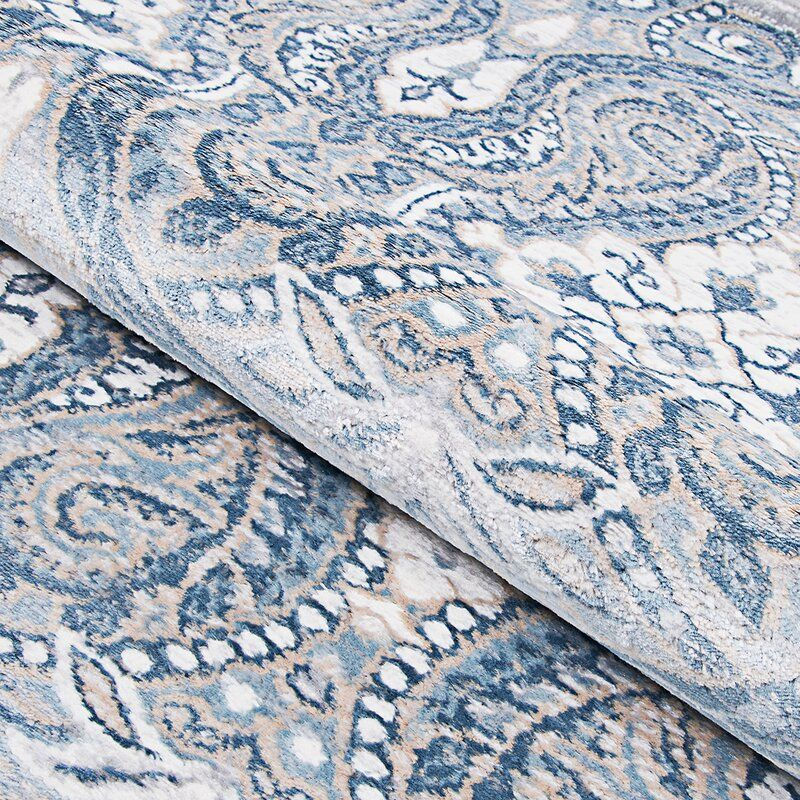 Karmane Floral White Blue Area Rug In 2021 Area Rugs Blue Area Rugs Rugs