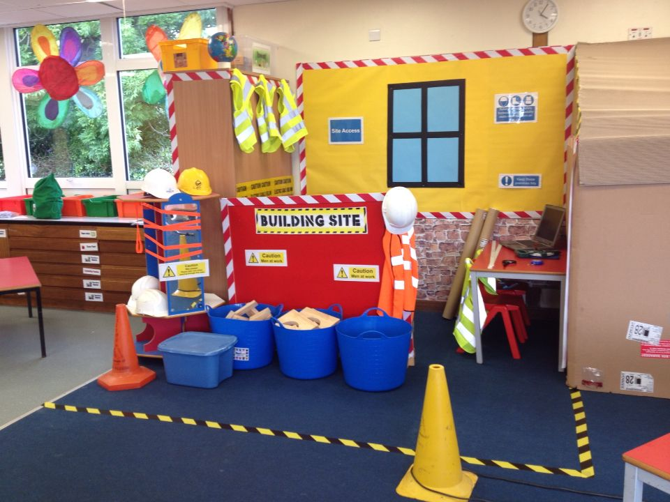 Builders office role play area drama centers pinterest for Raumgestaltung drama