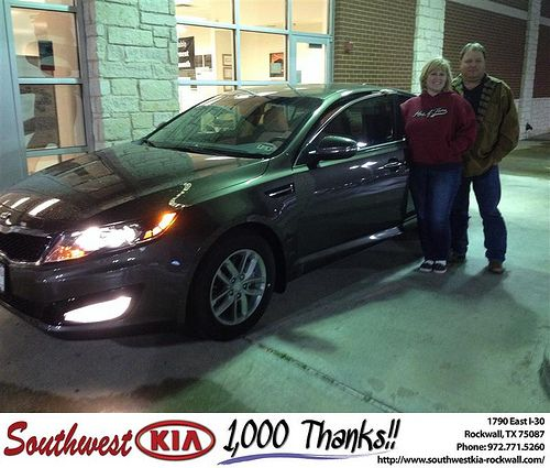 Thank you to Lori  Kite on your new 2013 #Kia #Optima from Kathy Parks and everyone at Southwest KIA Rockwall! #RollingInStyle