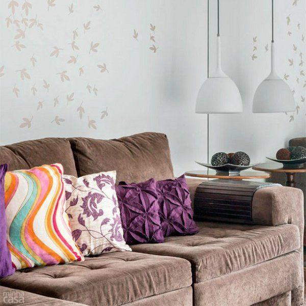 sala com sofa marrom new