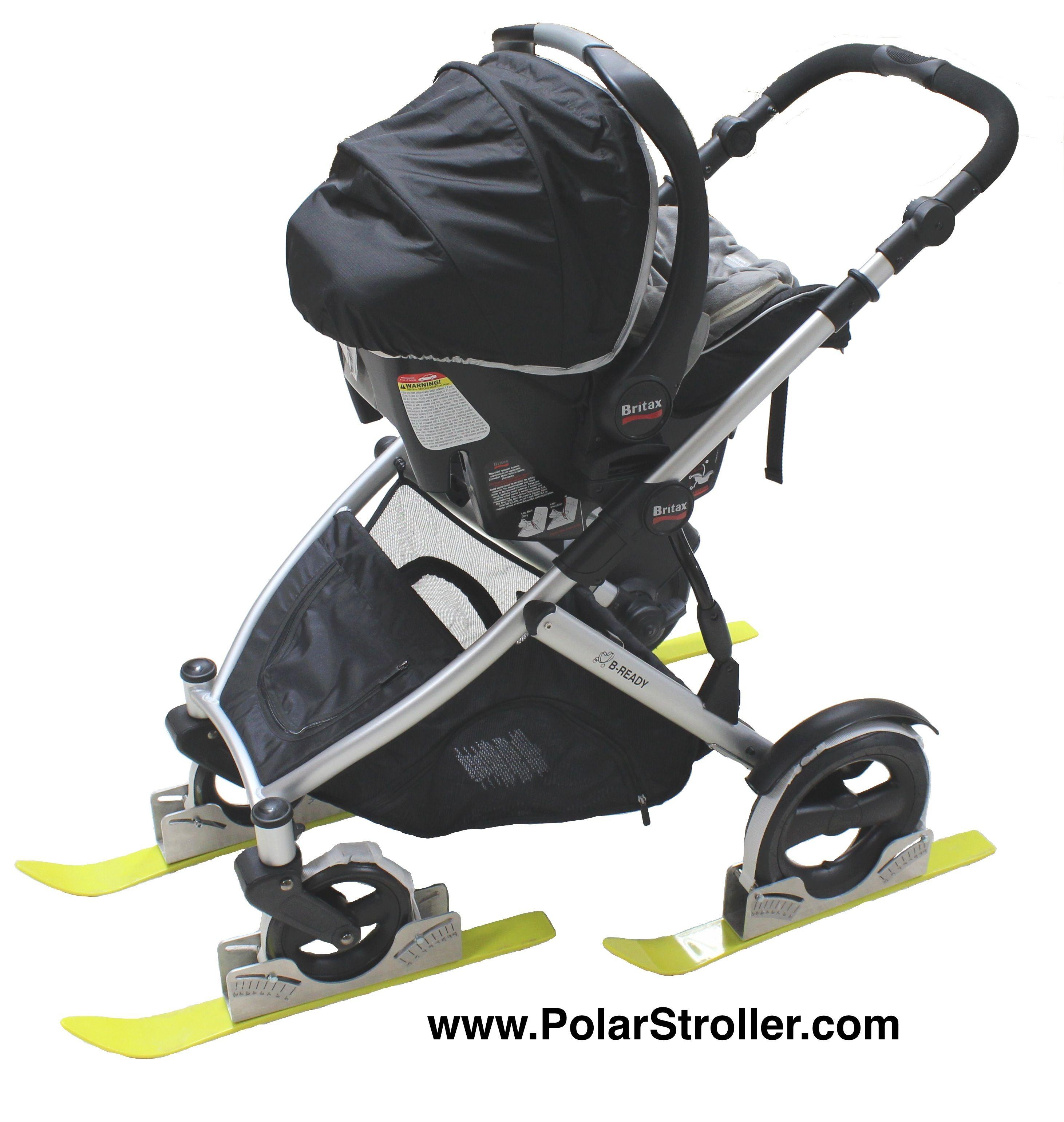 Stroller Skis for a 4 wheel stroller Stroller, Bike