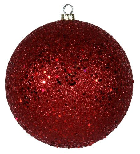 Amazon Com Red Holographic Glitter Shatterproof Christmas Ball Ornament 6 150mm Christmas Ornaments Ball Ornaments Ornament Set