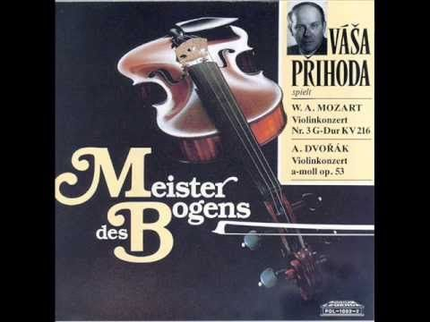 Vasa Prihoda spielt Dvorak Violin-Konzert live 1956
