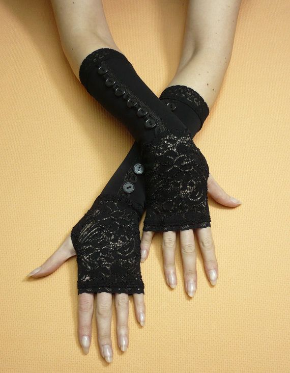 New Women Evening Bridal Wedding Party Dressy Lace Fingerless Gloves Mittens VQ