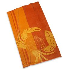 Bed Bath And Beyond Beach Towels Alluring Got Crabs Orange Crab Beach Towel  Bed Bath & Beyond  Crabby Inspiration Design