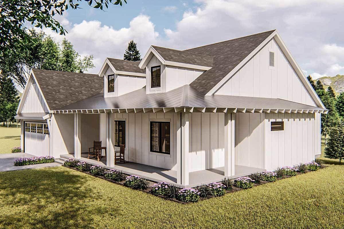 Plan 62637DJ Modern Farmhouse Plan in 2020 Modern