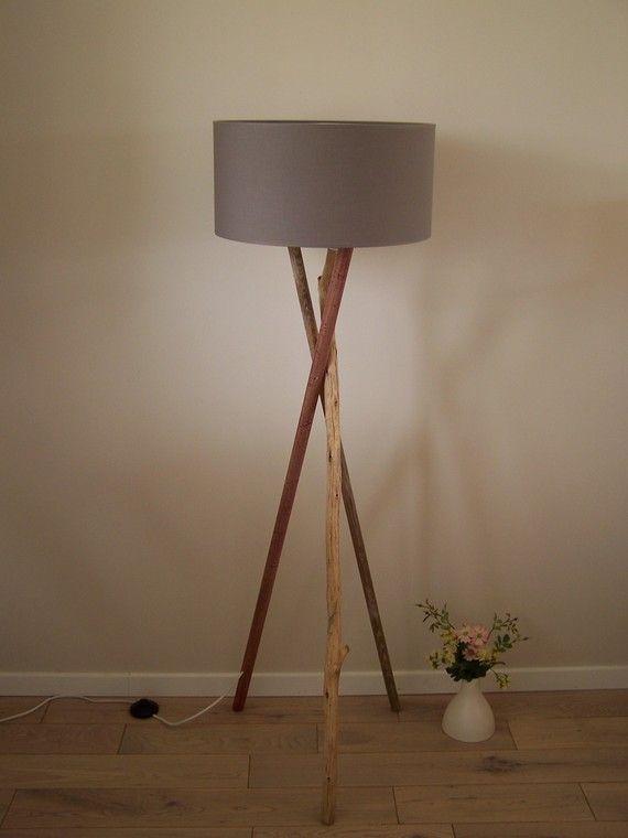 Lampadaire Bois Et Bois Flotte Lampes Pinterest