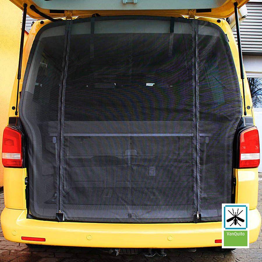 Nie mehr Mücken! VanQuito Heckmoskitonetz VW T5 / T6 : einfach ...