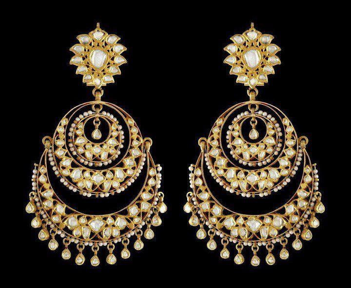 Bali Jhumka Chaand Perfect Mehndi Earrings Jewelry