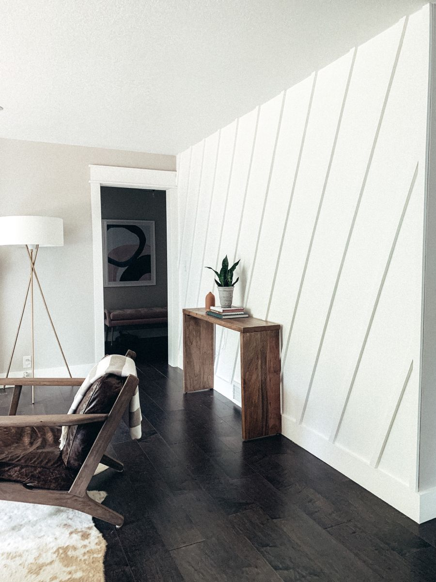 DIY board and batten accent wall
