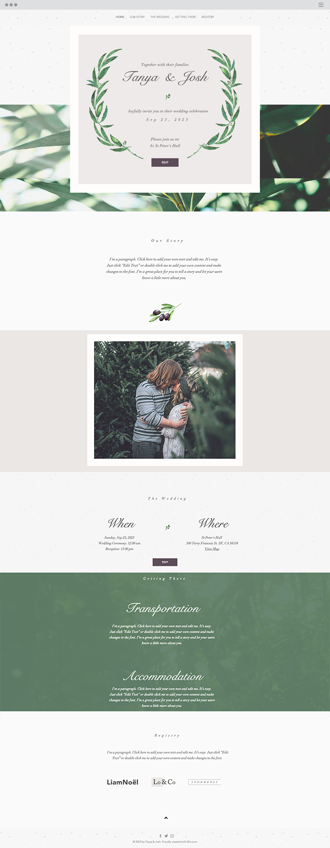 Elegant Wedding Invitation | Online Invitation Template | Wix ...