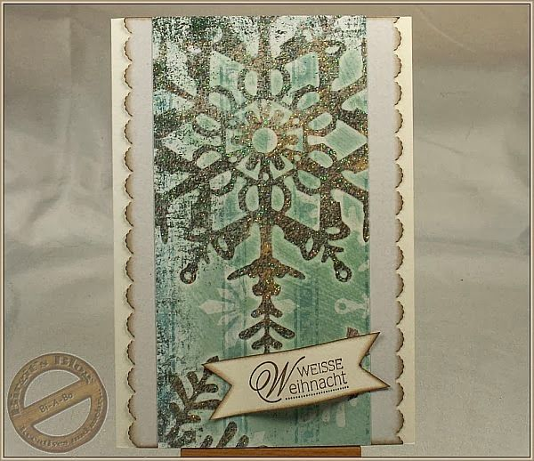 Weihnachtskarte - clean and simple