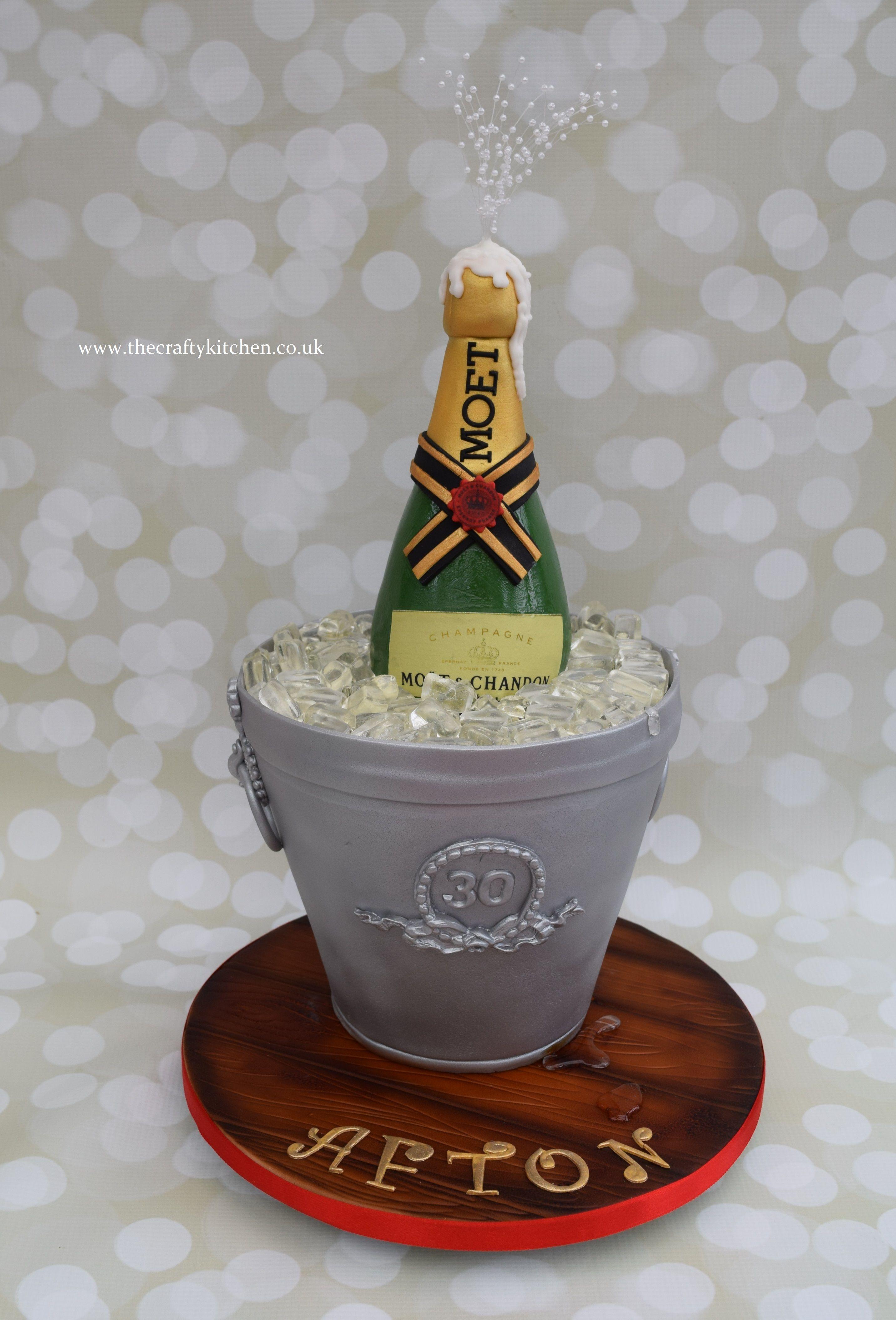 Ice Bucket Amp Champagne Cake Ladies Cakes Ice Bucket
