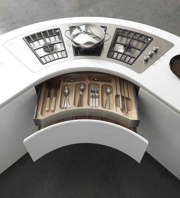 Moderne Küche Accessoires: Lackierte Küche Mit Halbinsel ARTIKA