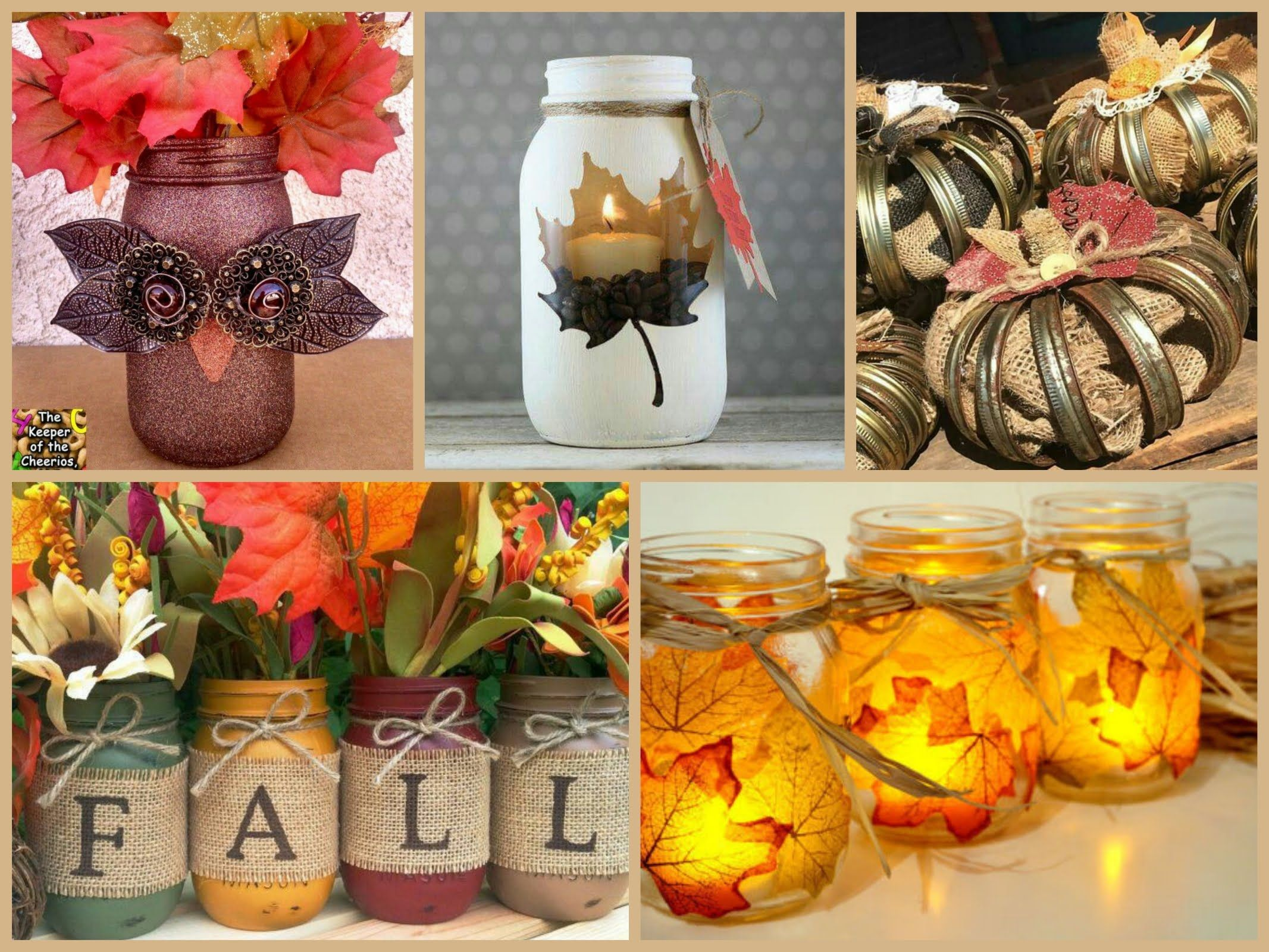 Easy mason jar fall decorations diy fall decorating for Homemade fall decorations for home