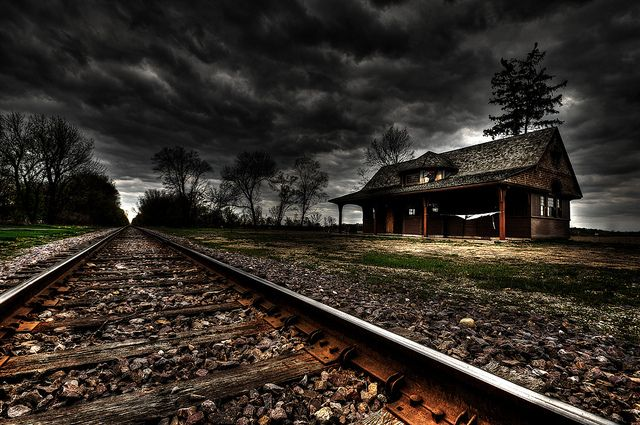 Abandoned Train Station - Great Railroad Photography.