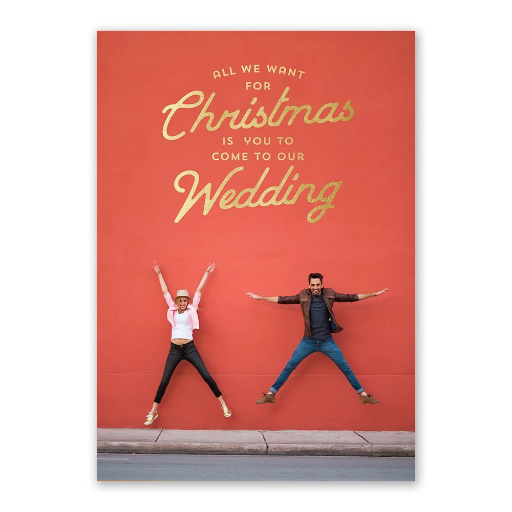 We Want You! - Foil Holiday Card Save the Date | Pinterest | Wedding ...