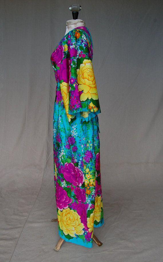 1960s Kaftan Maxi Dress by Hilo Hattie Fashions by MovieStarMoon, $75.00
