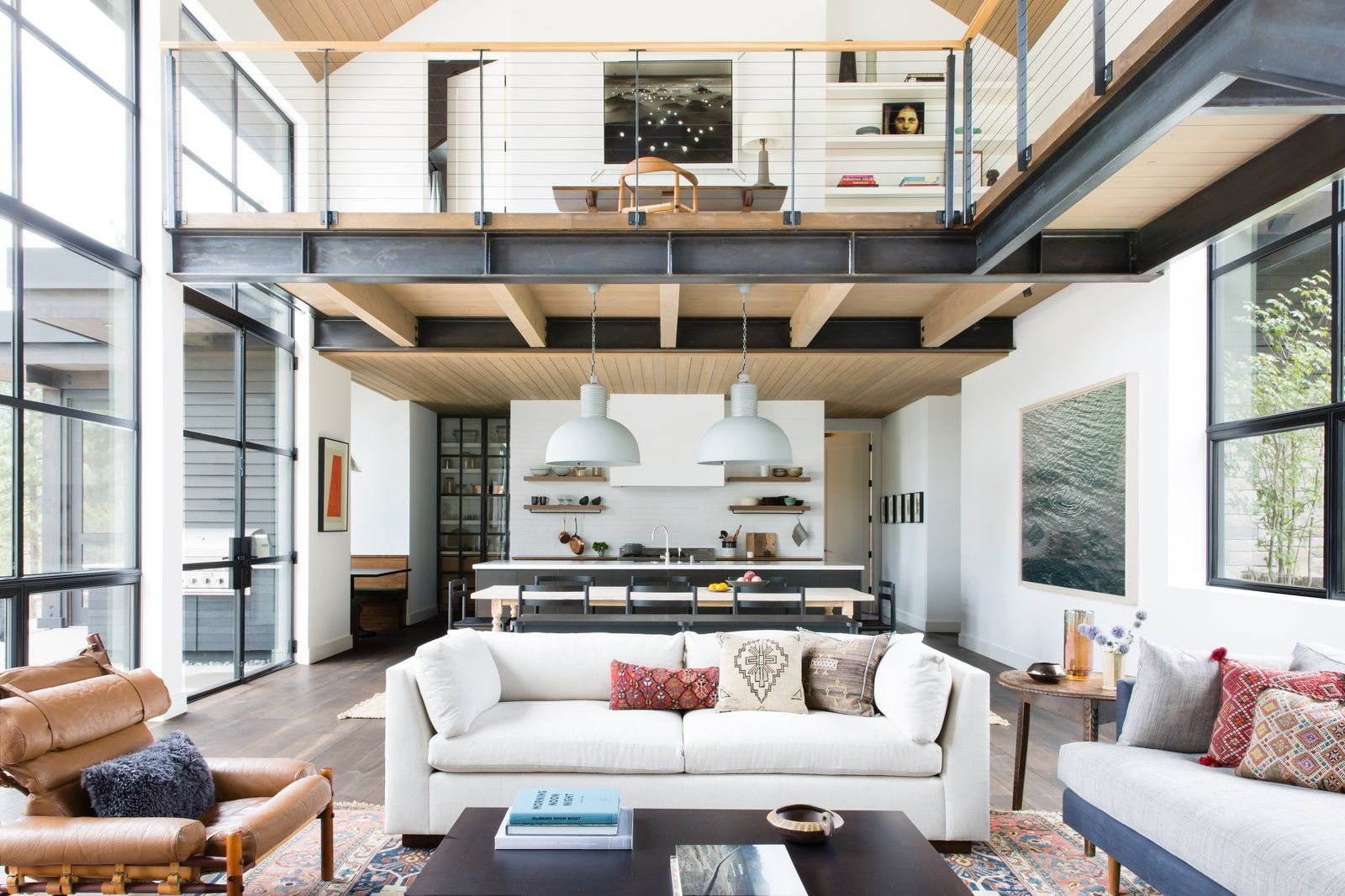 Photo 3 Of 20 In A Sleek Lake Tahoe Retreat Shows Off An Impressive Modern Mountain Home Home Home Interior Design