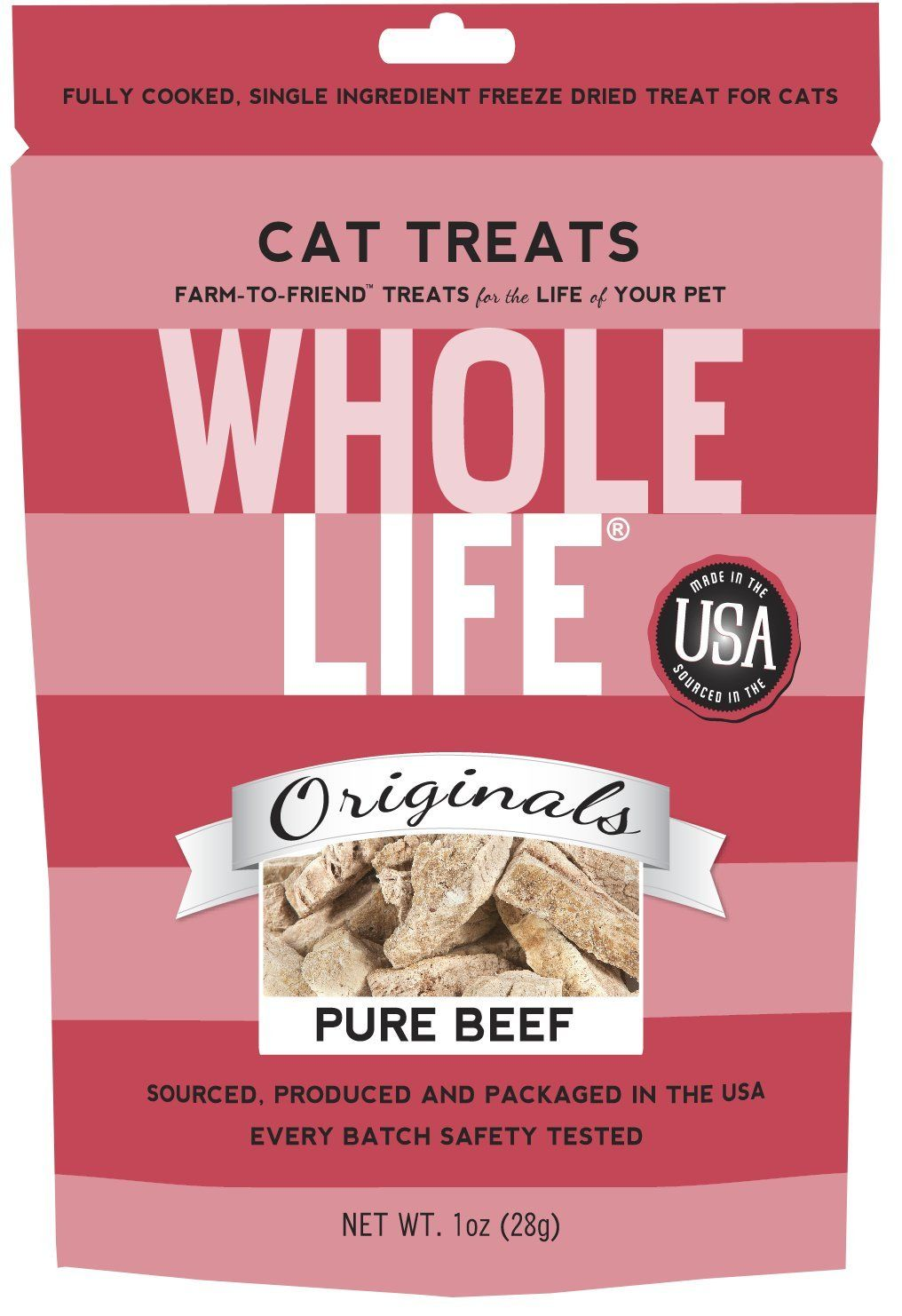 Whole Life Pet Single Ingredient USA Freeze Dried Beef