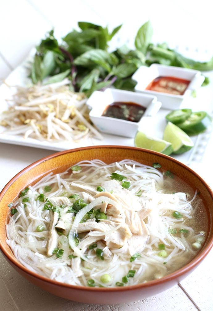 6f73e4aed Boost your mood with a bit of comfort food  Traditional Pho Ga Vietnamese  Chicken Noodle Soup. This pho is way less intimidating to make than classic  beef ...